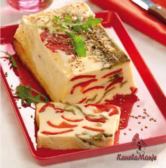 Kanelamonje:  Recetas de Cocina: Pastel de queso con pimientos de colores