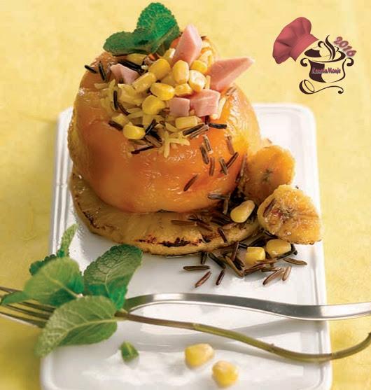Kanelamonje: Recetas de Cocina: Pimiento relleno caribeño
