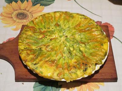 le mie ricette: frittata con fiori di zucca