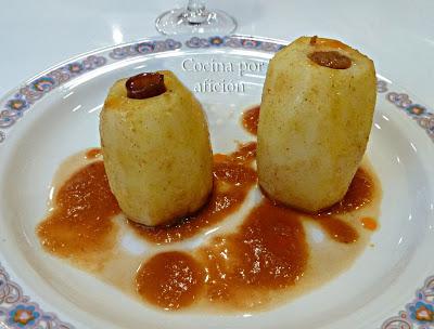 Patatas rellenas de chistorra