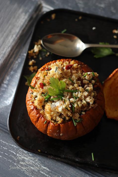 Harrisa roasted Pumpkin and Bulgur Wheat salad #healthy #pumpkin #autumn #lowGI